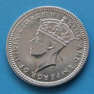 A Malaya King George VI 5 Cent Coin of Year 1941
