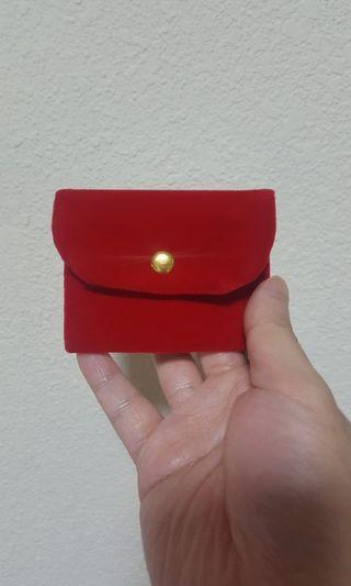 Red Velvet Coin Pouch