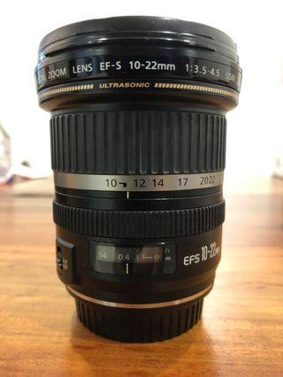 Canon EF-S 10-22mm USM wide angle lens