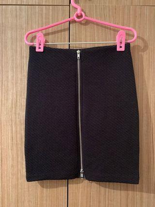 Bandage Skirt Black with zipper