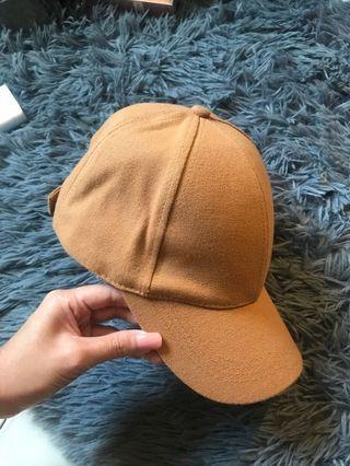 ZARA brown baseball cap