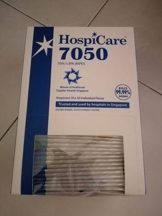 Hospicare 7050 isopropyl alcohol wipes