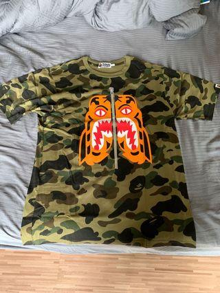 WTS Bape Camo Tiger Tee Size Large