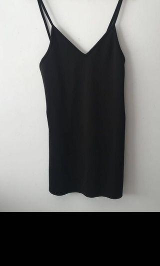 All about Eve black slip dress