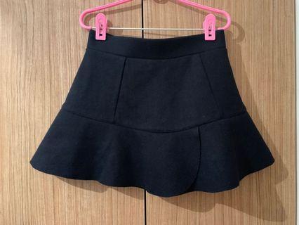 Cache cache navy blue trumpet skirt