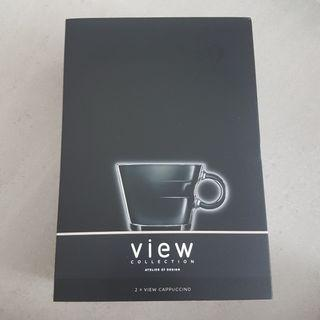 [Brand New] Nespresso View Collection Cappuccino Glass Set x2