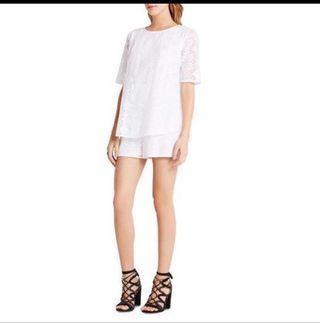 bcbg white lace jumper