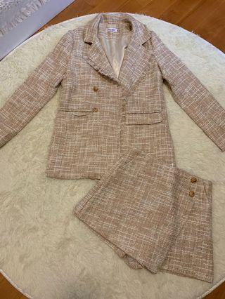 Tweed suit 2 piece set