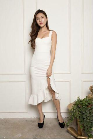 LBRLabel Jodilia Mermaid Dress in White