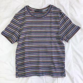 Brandy Melville Colourful Striped Helen Top