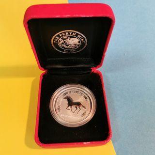 澳洲Perth Mint Year of Horse 2002 馬年銀幣Silver Coin