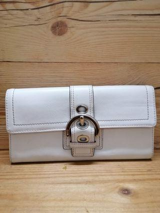 Authentic Coach long wallet leather