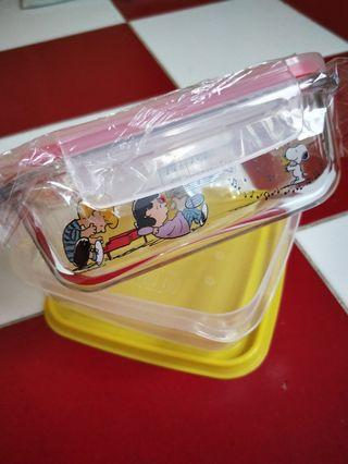 Pyrex Corelle Peanuts Snoopy Glass Box