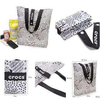 下單前先詢問/美單Crocs加厚折叠手提購物袋