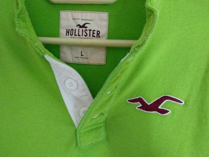 Hollister Icon Logo Contrast Henley Long Sleeve Tee Shirt