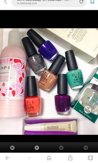 FOC Assorted nail essentials to give away