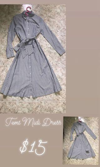 Temt Stripes Midi Dress
