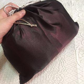 "Premium Dark Mahogany Satin Dust Bag for Luxury Bag (Chanel 9"" CFs and below)"