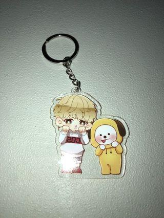 BTS Keychain bt21 jimin Keychain with chimmy!:)