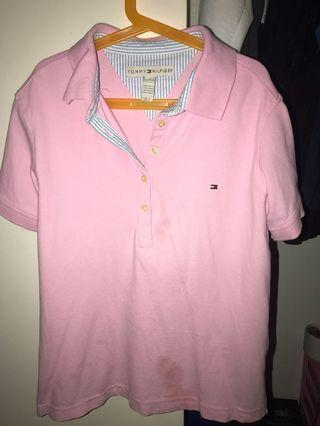 Pink Tommy Hilfiger polo