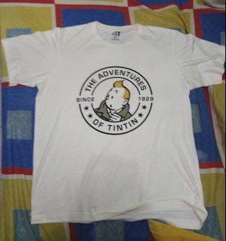 #BAPAU Tshirt Uniqlo Les Adventure Of Tintin