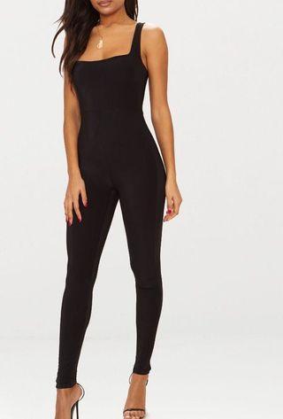 Black square neck jumpsuit BNWT
