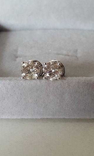 Sales! Solitaire Diamond Earrings 1.42ct (Authentic)