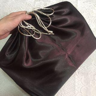 Premium Dark Mahogany Satin Dust Bag for Luxury Bag (Chanel jumbo CF and below)