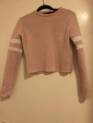 Light pink cropped jumper