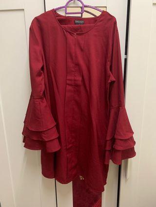 imaan boutique felora maroon
