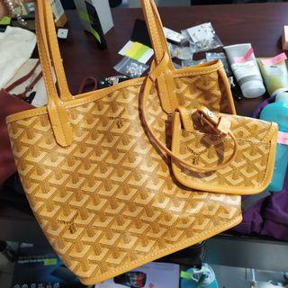 goyard handbag small yellow