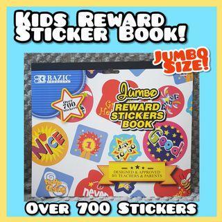Kids Jumbo Size Rewards Sticker Book - Over 700 Stickers! Great for parents & teachers