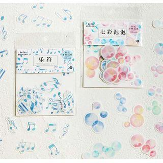 [PO] bubbles musical notes sticker flakes