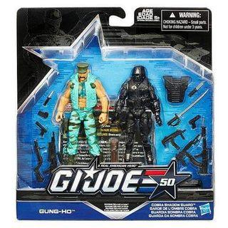 GI Joe 50th Anniversary Marine Devastation Gung Ho & Cobra Shadow Guard