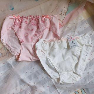 Ladies underwear 少女日系牛奶絲純綿內褲愛心蝴蝶結蕾絲 Peach John  Sixty eight Tutuanna Victoria secret