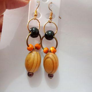 #BAPAU Coffee Wood Earrings