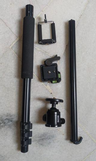 Canon EOS monopod with quick release & phone holder