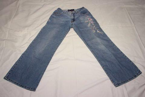 Girls denim long pants (blue)