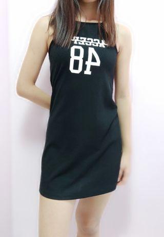 🚚 Black Jersey Dress