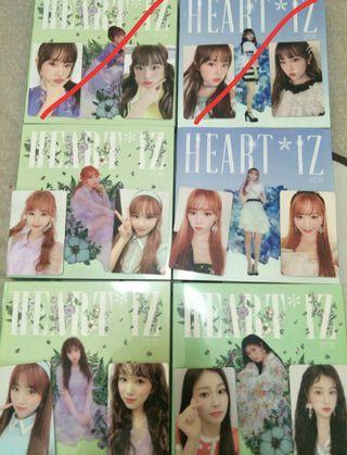 (full set) iz*one heart*iz album