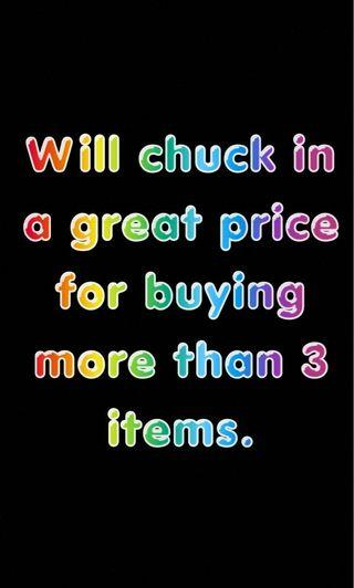 3 OR MORE ITEMS AND GET A DISCOUNT