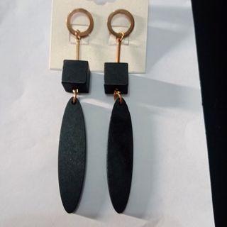 #BAPAU Black wood Earring