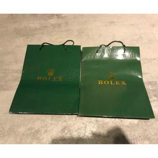 全新 ROLEX 紙袋 X2