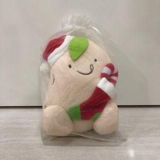 Mr Bean Christmas edition candy cane plush
