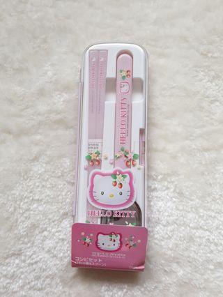 Hello Kitty pink Cutlery Set( sanrio)