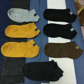 🚚 線條素色運動短襪(7雙)