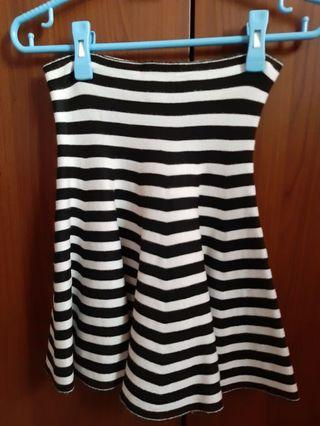 Stripes skirt (black)