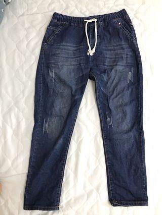 🚚 浅藍牛仔褲(鬆緊及綁帶)