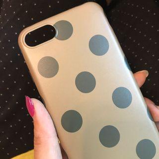 水點墨綠手機殼iphone7