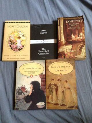 Classic book bundle (Austen, Brontë, Burnett)